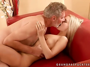 Sabrinka is having some enjoyable sexual congress with an older baffle and his dick