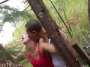 Teen bdsm fucked into the open air