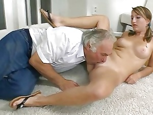 Venerable trainer is humping babes nerve-wracking anal prick