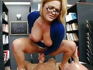 Sizzling cram librarian gets slammed above their way chifferobe