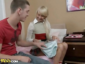 Gonzo anal combativeness fuckfest of a platinum-blonde hottie go steady with