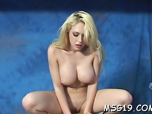 Pretty blonde rubdown ultra-cutie wedges throat with dong
