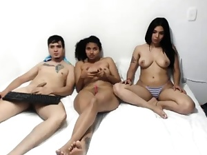 Latin Nubile Hottie 3some