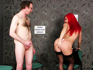 Super-naughty red-haired Britt taunting during JOI