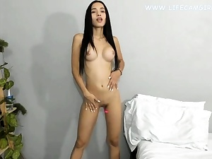 Youthful asian diminutive honey slim and sexy nude