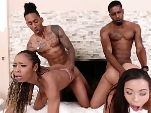 Ebony cheerleader enjoys it milky Family Betrayals