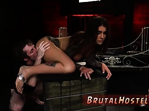 Cruel handballing restrain bondage splatter and nubile spunk deepthroat Exhilarated