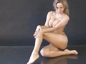 Naked bitch posing in a picture shoot revealing her amazing body