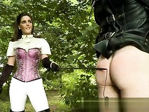 Ultra-kinky couple is about to have hookup in the forest manhandling each other