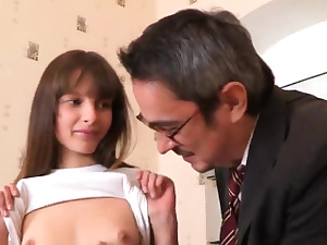Lovely college girl was taunted and smashed by elder ment31mHj