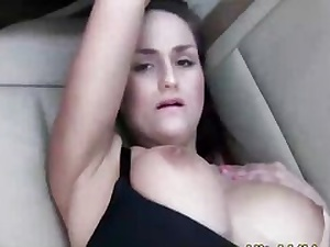 Splendid stunner boned by a knob on the back seat of the truck hard
