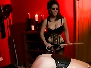 Naughty BDSM movie with a trampy mega-bitch dominating over her guy
