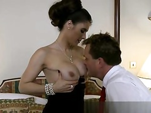 Stellar dame is having stiff core lovemaking right in front of her taut up hubby