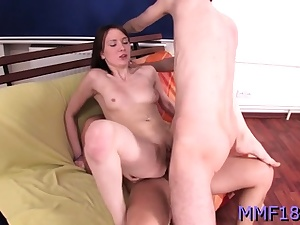 Elegant russian sweetheart brought to ejaculation