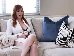 Ginger-haired Milf Trains Teen to be a Spear Deep-throater