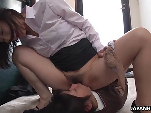 Warm Japanese dolls slurping out their wooly and raw cunt fuck holes
