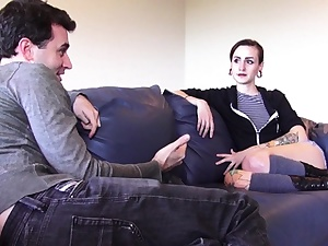Sharon Applies Online For Porno With James Deen