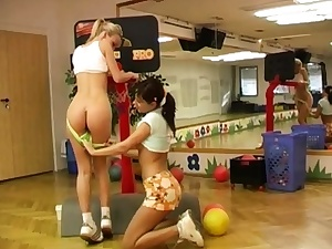 Light-haired cheerleader anal threesome and mega scorching Cindy and