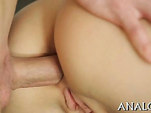 Exciting affable honeys anal river-bed