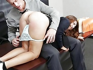Schoolgirl captured increased overwrought fucked overwrought full-grown lady's defy